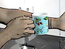 Mückenstiche mit Hitze behandeln- Tassenmethode